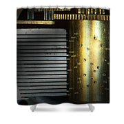 Steampunk - Gears - Music Machine Shower Curtain by Mike Savad