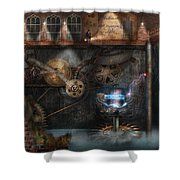 Steampunk - Industrial Society Shower Curtain by Mike Savad