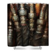 Steampunk - Pipes Shower Curtain by Mike Savad