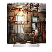 Steampunk - Machinist - The Grinding Station Shower Curtain by Mike Savad