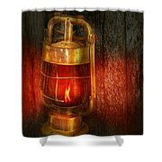 Steampunk - Red Light District Shower Curtain by Mike Savad