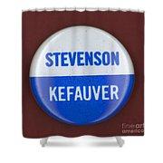 Stevenson Campaign Button Shower Curtain by Granger