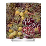 Still Life With Fruit Shower Curtain by Oliver Clare
