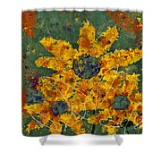 Stimuli Floral - S04ct01 Shower Curtain by Variance Collections