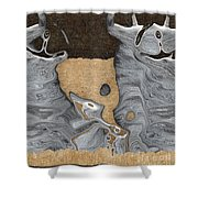 Stone Men 28 - Celebration  Shower Curtain by Variance Collections