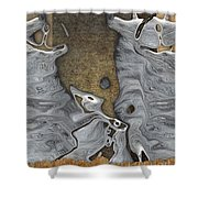 Stone Men 28b - Celebration Shower Curtain by Variance Collections