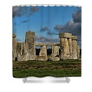 Stonehenge Shower Curtain by Heather Applegate