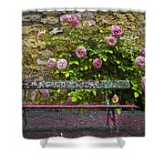 Stop And Smell The Roses Shower Curtain by Debra and Dave Vanderlaan