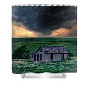 Storm Over Abandoned House Shower Curtain by Jill Battaglia
