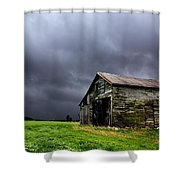 Stormy Barn Shower Curtain by Cale Best