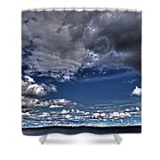 Stormy Clouds ... Shower Curtain by Juergen Weiss