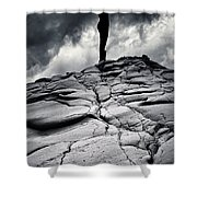 Stormy Silhouette Shower Curtain by Stylianos Kleanthous