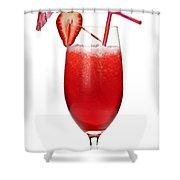 Strawberry Daiquiri Shower Curtain by Elena Elisseeva