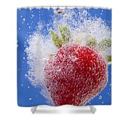 Strawberry Soda Dunk 1 Shower Curtain by John Brueske