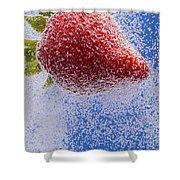 Strawberry Soda Dunk 2 Shower Curtain by John Brueske