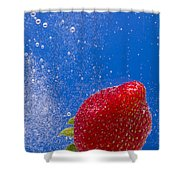 Strawberry Soda Dunk 4 Shower Curtain by John Brueske