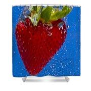 Strawberry Soda Dunk 7 Shower Curtain by John Brueske
