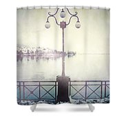 Street Lamp Shower Curtain by Joana Kruse