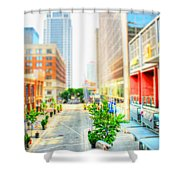 Street's Of Louisville Shower Curtain by Darren Fisher