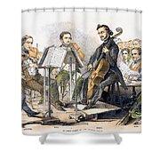 String Quartet, 1846 Shower Curtain by Granger