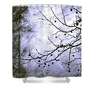 Sudden Snowstorm Shower Curtain by Judi Bagwell
