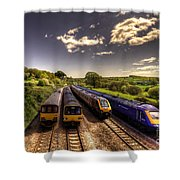 Summer Saturday At Aller Junction Shower Curtain by Rob Hawkins