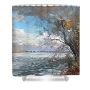 Sun After Storm Shower Curtain by Ylli Haruni