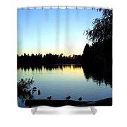 Sundown At Lost Lagoon Shower Curtain by Will Borden