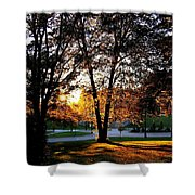 Sundown In Stanley Park Shower Curtain by Will Borden