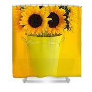 Sunflowers in vase Shower Curtain by Elena Elisseeva