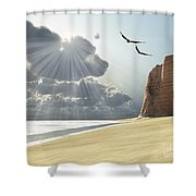 Sunlight Shines Down On Two Birds Shower Curtain by Corey Ford