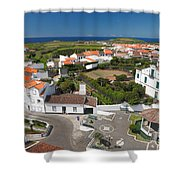 Sunny Day At Ribeirinha Shower Curtain by Gaspar Avila