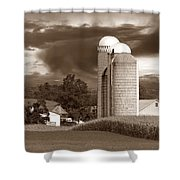 Sunset On The Farm S Shower Curtain by David Dehner