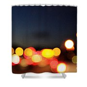 Sunset On The Golden Gate Bridge Shower Curtain by Linda Woods