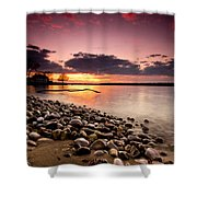 Sunset On The Rocks Shower Curtain by Cale Best