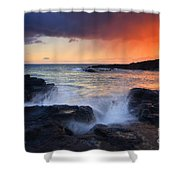 Sunset Storm Passing Shower Curtain by Mike  Dawson