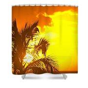 Sunset, Wailea, Maui, Hawaii, Usa Shower Curtain by Stuart Westmorland