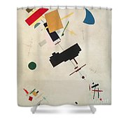 Suprematist Composition No 56 Shower Curtain by Kazimir Severinovich Malevich