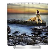 Surreal Lioness Shower Curtain by Carlos Caetano
