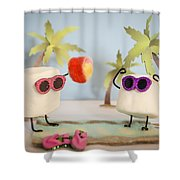 Sweet Vacation Shower Curtain by Heather Applegate