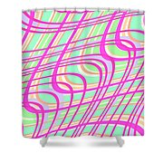 Swirly Check Shower Curtain by Louisa Knight