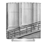 Symmetry Shower Curtain by Susan Candelario