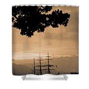 Tall Ship Gorch Fock Shower Curtain by Gaspar Avila