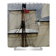 Tall Ships Shower Curtain by Bob Christopher