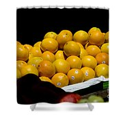 Tangerines For Sale Shower Curtain by Tim Mulina