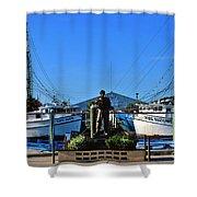 Tarpon Springs Waterfront Shower Curtain by Susanne Van Hulst