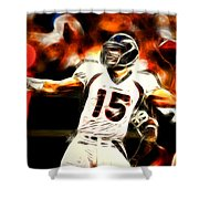 Tebow Shower Curtain by Paul Van Scott