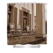 Tennessee Plantation Porch Shower Curtain by Carol Groenen