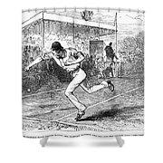 Tennis: Wimbledon, 1880 Shower Curtain by Granger