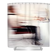 Terminal Speed Shower Curtain by Jerry McElroy